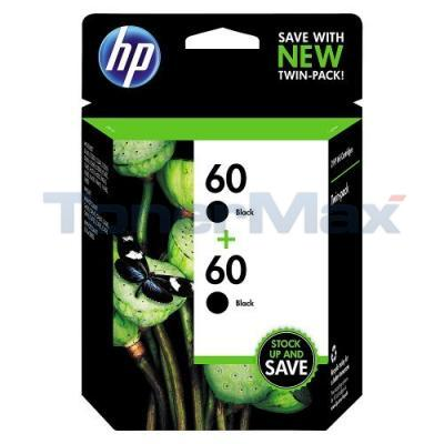 HP NO 60 INK CARTRIDGE BLACK TWIN PACK